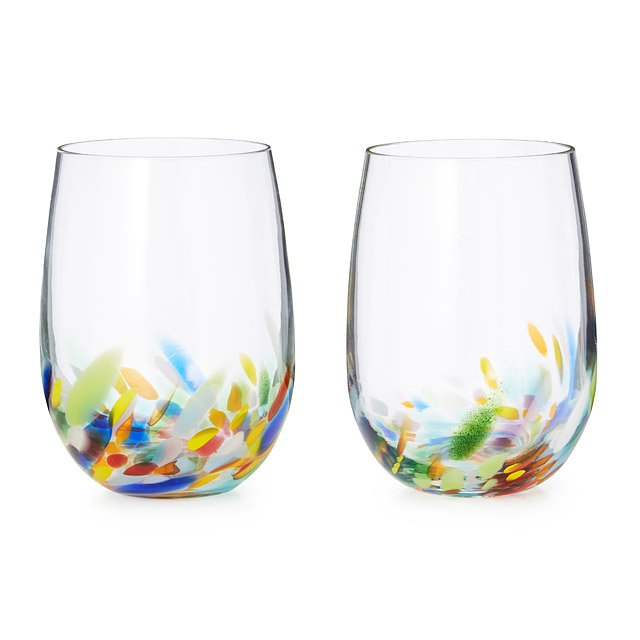 Confetti Wine Glasses - Set of 2