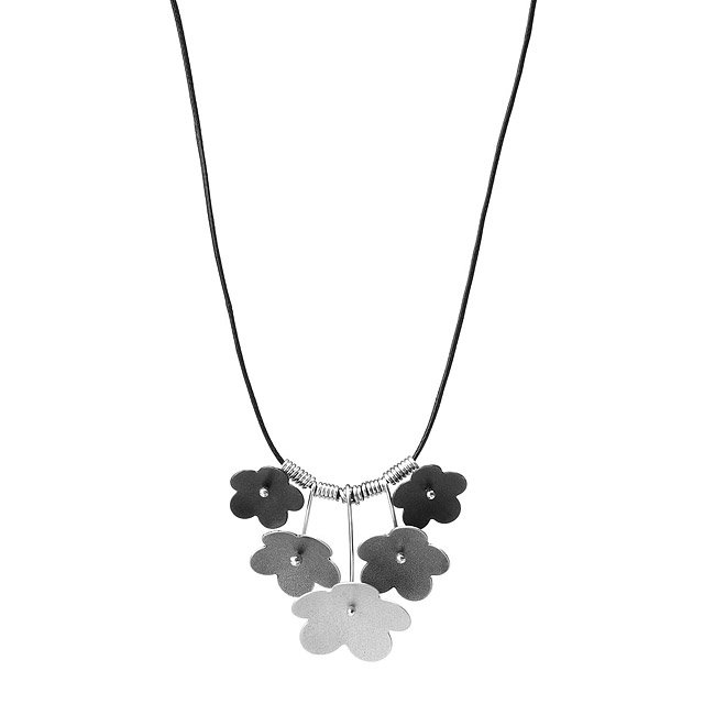 Forget Me Not Silver Necklace