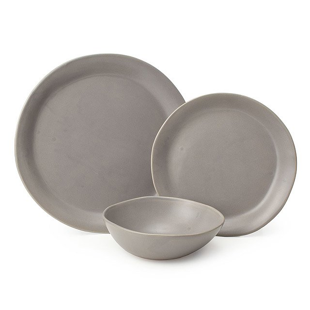 Gray Stoneware Dishware Collection