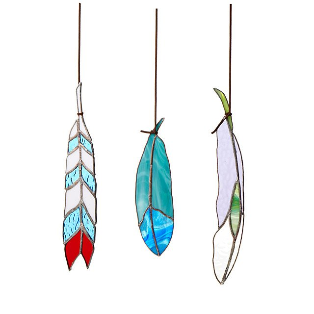 Stained Glass Feathers