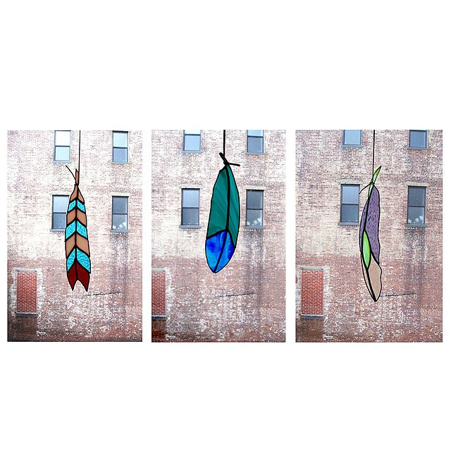 Stained Glass Feathers 2