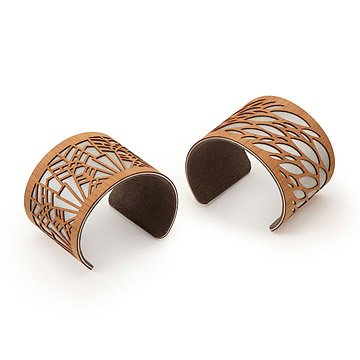 Laser Cut Wood Cuffs