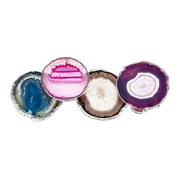 Lumino Gilded Multicolored Coasters - Set of 4