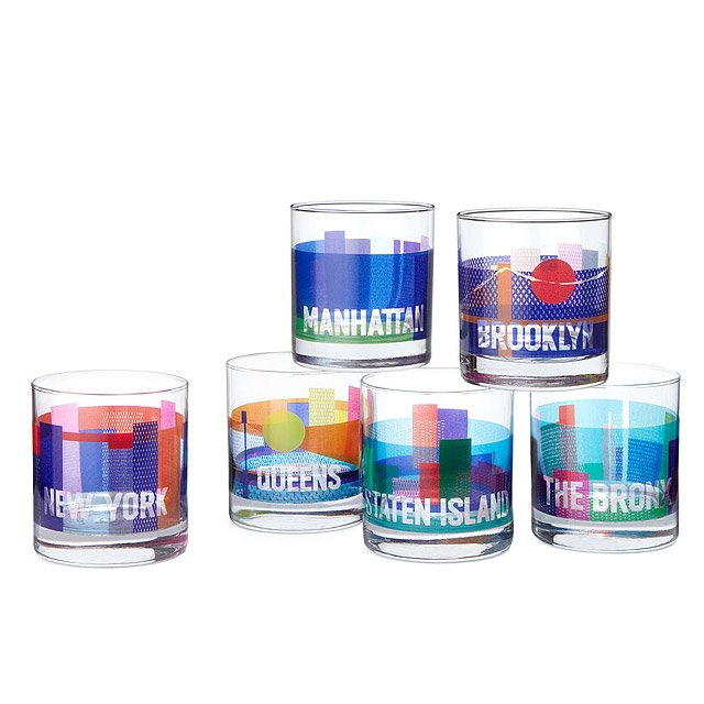 New York City Borough Glasses - Set of 6
