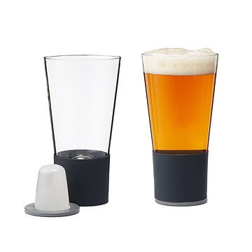 Self Chilling Pint Glasses - Set of 2