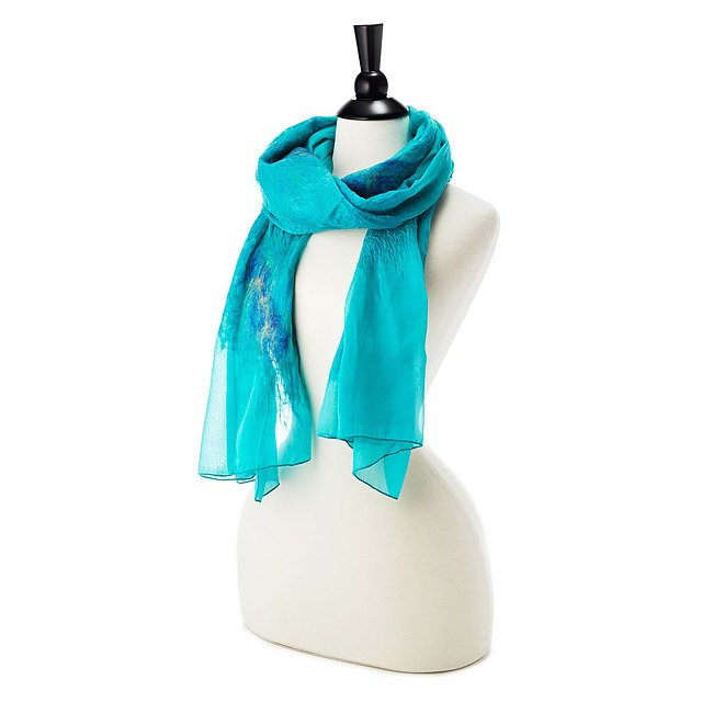 Romantic Silk and Merino Wrap Scarf 2