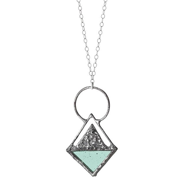Triangle Stained Glass Pendant