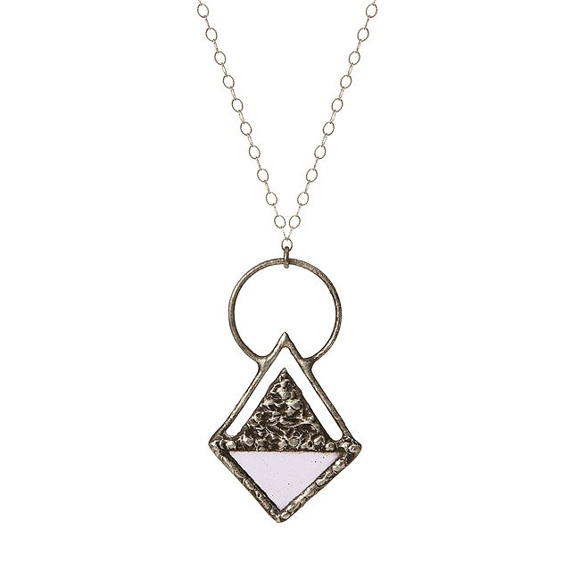 Triangle Stained Glass Pendant 2