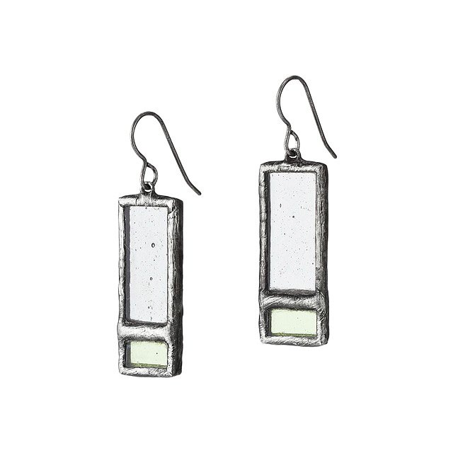 Windowpane Stained Glass Earrings