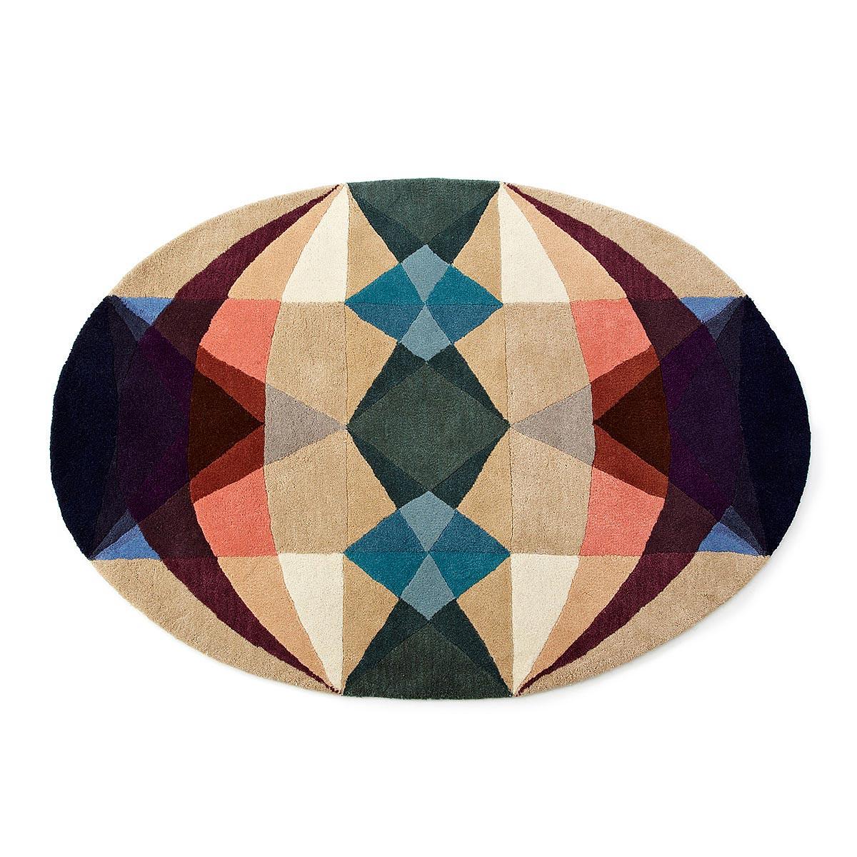 ^ Modern Geometry rea ug Handmade Felted Wool ug, Geometric ...