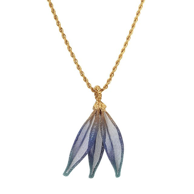 Mesh Ombre Leaf Necklace