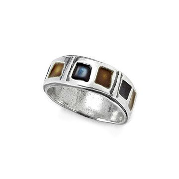 Enamel Band Ring - Earth