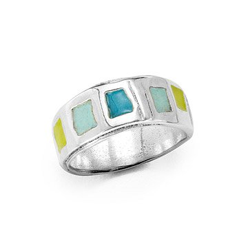 Enamel Band Ring - Water
