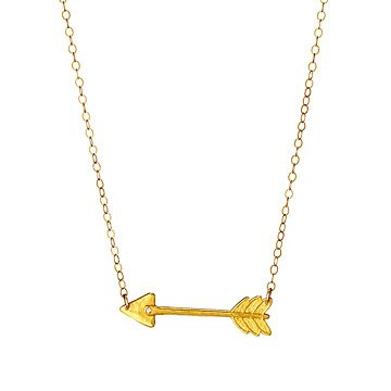 dp necklace gold arrow stainless steel pendant by men for chain vittore tone