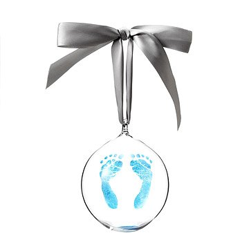 Custom Baby Footprint Ornament