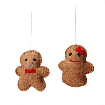 Gingerbread Couple Ornaments