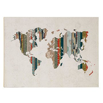 Striped World Map