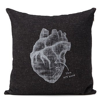 Secret Thoughts Heart Pillow