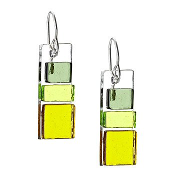 Block Glass Earrings