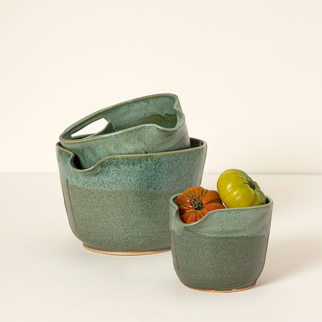 Nesting Stoneware Mixing Bowl Sets by Maggy Ames