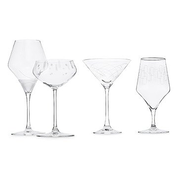 Mid-Century Modern Glass Set