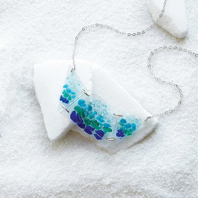 Shattered glass bib necklace 3