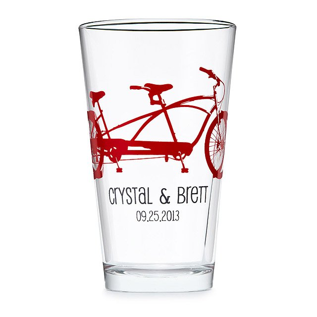 Personalized Tandem Bike Tumblers - Set of 8 2
