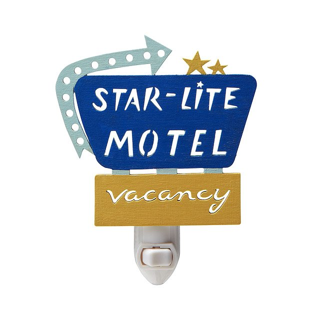 Retro Starlite Motel Nightlight