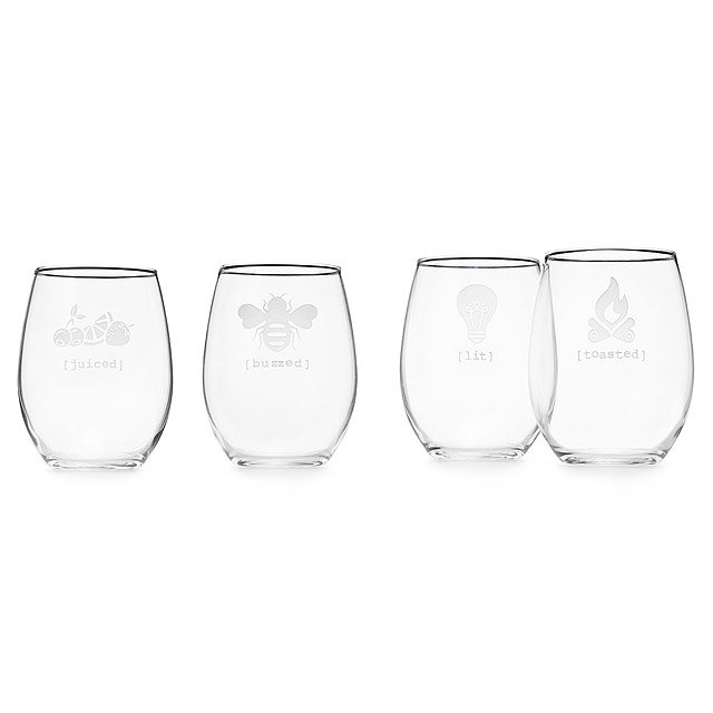 Under the Influence Stemless Wine Glass Set