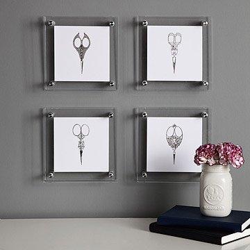 Metallic Letterpress Scissors - Set of 4