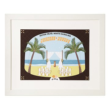 Personalized Beach Wedding Scene