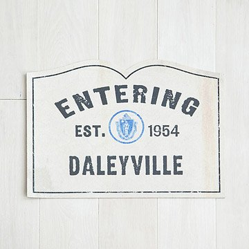 Personalized Town Welcome Doormat