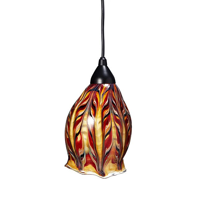 Glass Feather Pendant Light