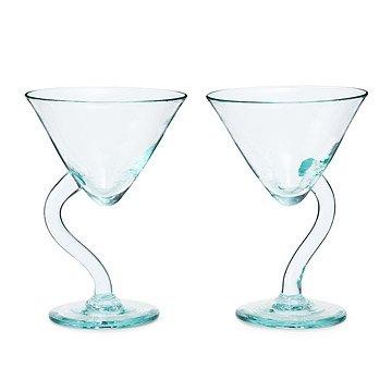 Twisted Martini Glasses - Set of 2