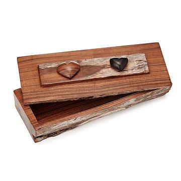 Double Heart Sandlewood Box
