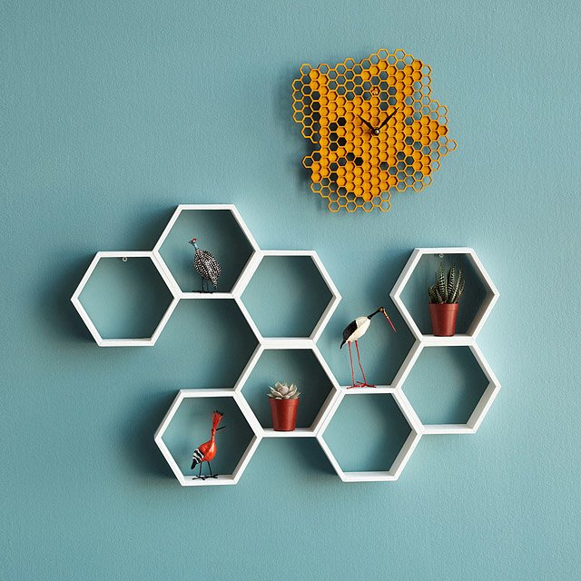 Honeycomb Decorative Accent Shelf
