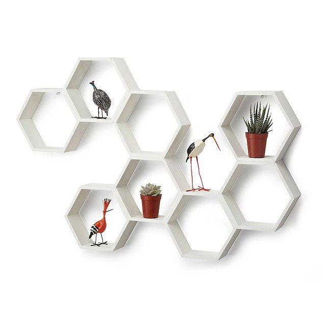 Honeycomb Decorative Accent Shelf 2