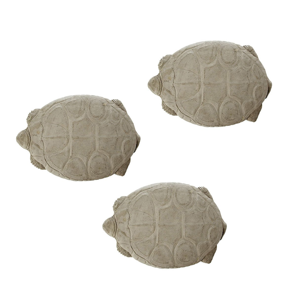 Vintage Tortoise Stepping Stones Set Of 3 Hand Cast