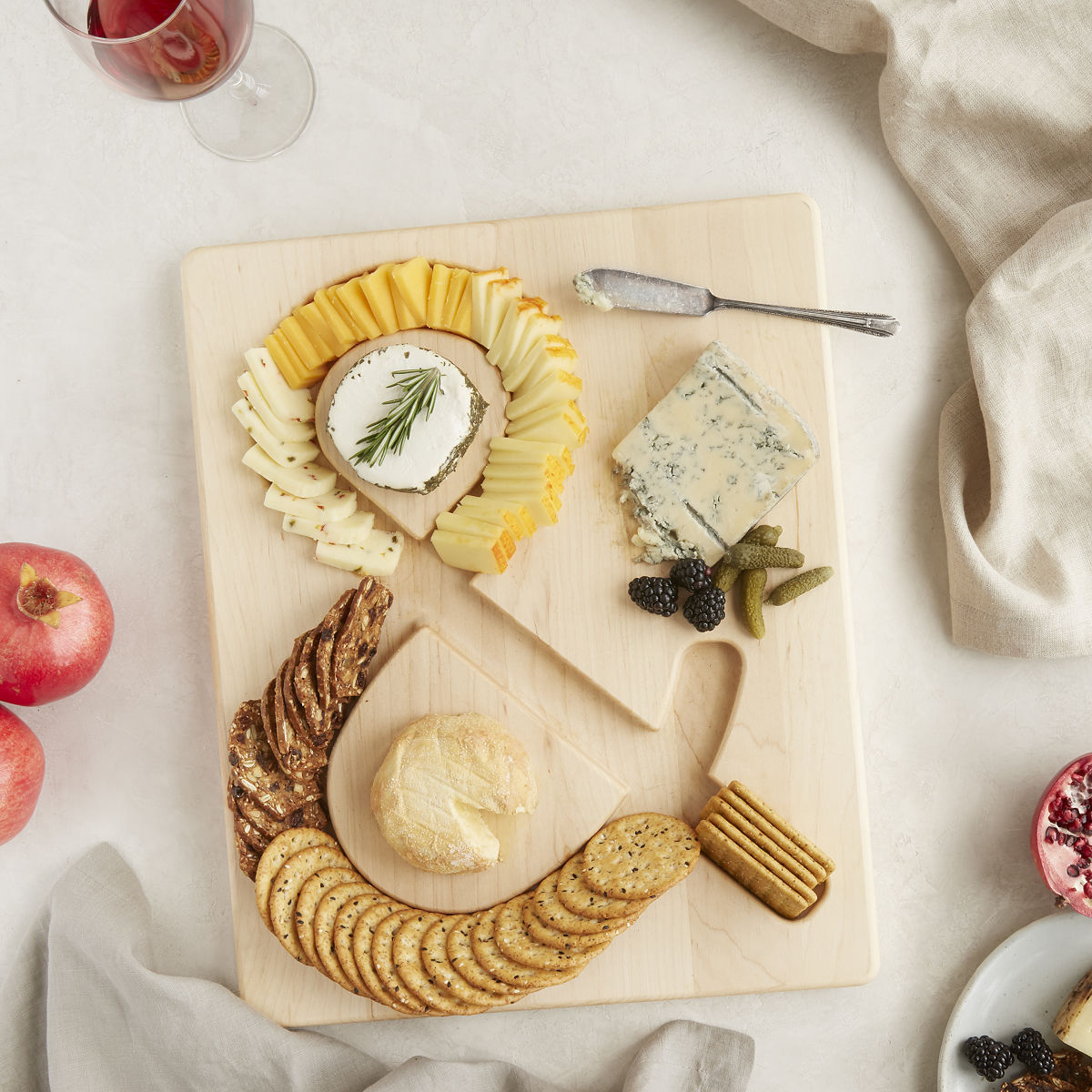 Cheese Amp Crackers Serving Board Wooden Tray Uncommongoods