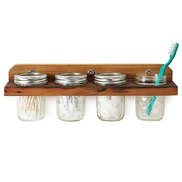 Wooden Mounted Wall Caddy
