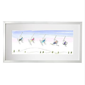 Personalized Family Ski & Snowboard Art