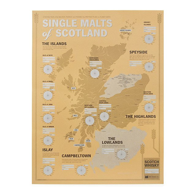Single Malts of Scotland Tasting Map