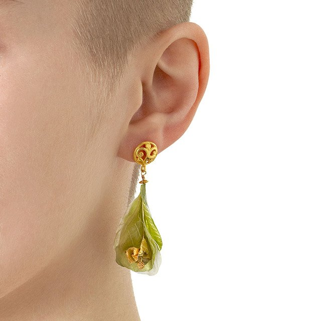 Vegetable Blossom Post Earrings 3
