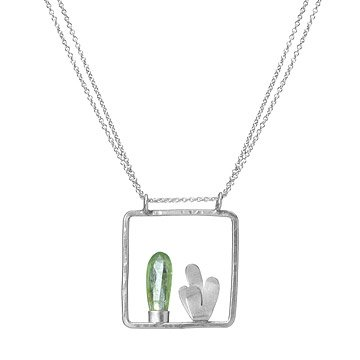 Cactus Frame Necklace