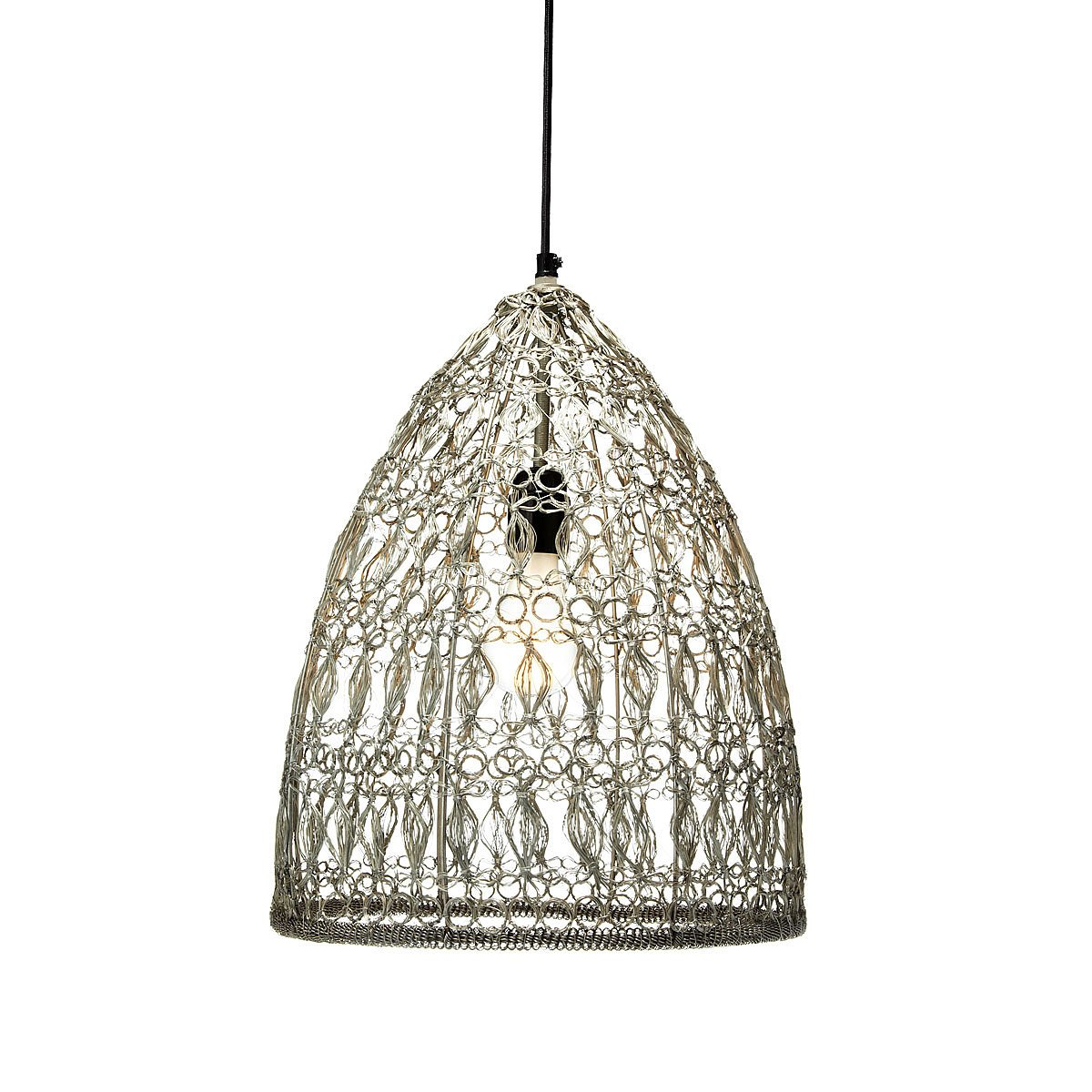 crochet wire pendant lamp pendant lamp handmade metal wire