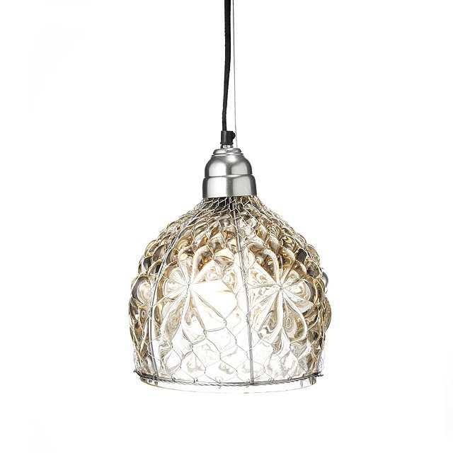 Bubble Glass & Wire Pendant Lamp