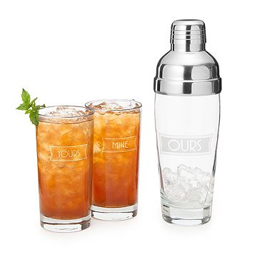 Yours, Mine, and Ours Cocktail Shaker Set