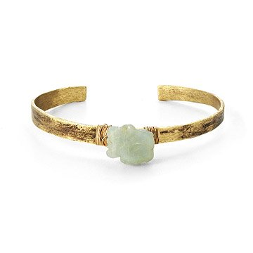 Aquamarine Birch Cuff