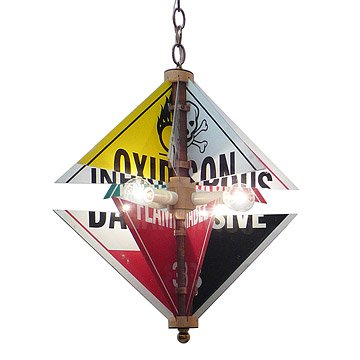 Hazard Sign Chandelier