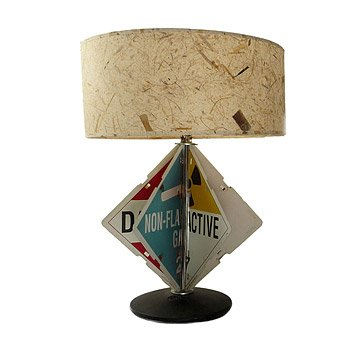 Hazard Sign Table Lamp